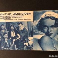Cine: FICHA PROGRAMA 120 JUVENTUD AMBICIOSA.WILLIAM HOLDEN SUSAN HAYWARD. Lote 174309819