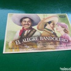 Cine: PROGRAMA DE CINE SIMPLE. EL ALEGRE BANDOLERO. Lote 174309895