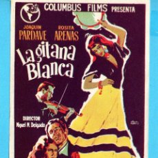 Cine: FOLLETO DE MANO DE LA GITANA BLANCA SIN PUBLICIDAD. Lote 174332080
