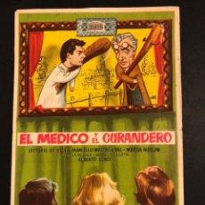 Cine: PROGRAMA EL MÉDICO Y EL CURANDERO.MARCELLO MASTROIANNI VITTORIO DE SICA.CON PUBLICIDAD. Lote 174342084