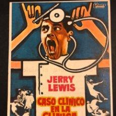 Cine: PROGRAMA CASO CLÍNICO EN LA CLÍNICA.JERRY LEWIS.CON PUBLICIDAD. Lote 174342229
