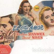Cine: PROGRAMA DE CINE TROQUELADO: EL OTRO AMOR. SIN PUBLICIDAD PC-4451. Lote 174373180