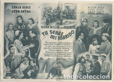 Cine: PROGRAMA DE CINE DOBLE: TU SERAS MI MARIDO. SIN PUBLICIDAD PC-4453 - Foto 2 - 174373263