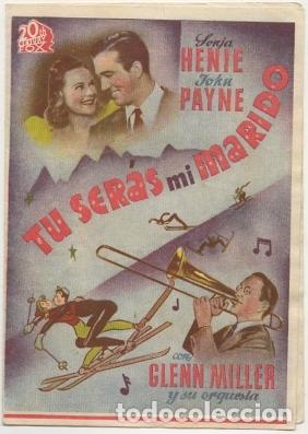 PROGRAMA DE CINE DOBLE: TU SERAS MI MARIDO. SIN PUBLICIDAD PC-4453 (Cine - Folletos de Mano - Comedia)