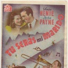 Cine: PROGRAMA DE CINE DOBLE: TU SERAS MI MARIDO. SIN PUBLICIDAD PC-4453. Lote 174373263