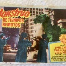 Cine: FOLLETO DE MANO PELICULA EL MONSTRUO CINE VICTORIA ALFARRAS EN LLEIDA DE 1953. Lote 174388167