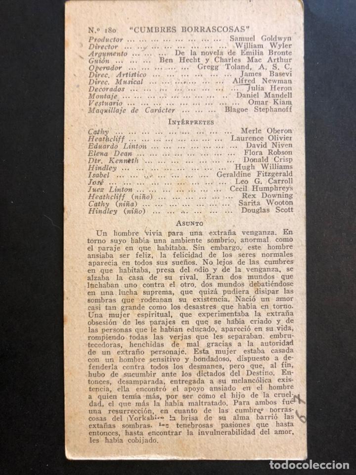 Cine: Ficha programa 180 cumbres borrascosas.laurence olivier merle Oberón - Foto 2 - 174388175
