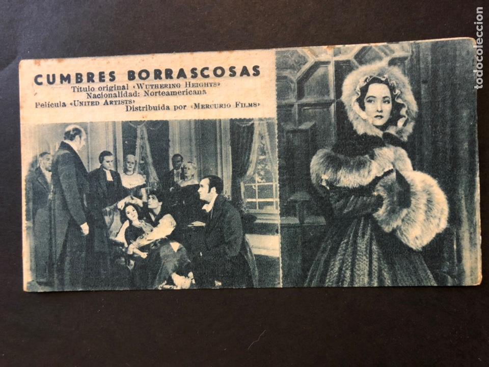 FICHA PROGRAMA 180 CUMBRES BORRASCOSAS.LAURENCE OLIVIER MERLE OBERÓN (Cine - Folletos de Mano - Drama)