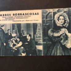 Cine: FICHA PROGRAMA 180 CUMBRES BORRASCOSAS.LAURENCE OLIVIER MERLE OBERÓN. Lote 174388175