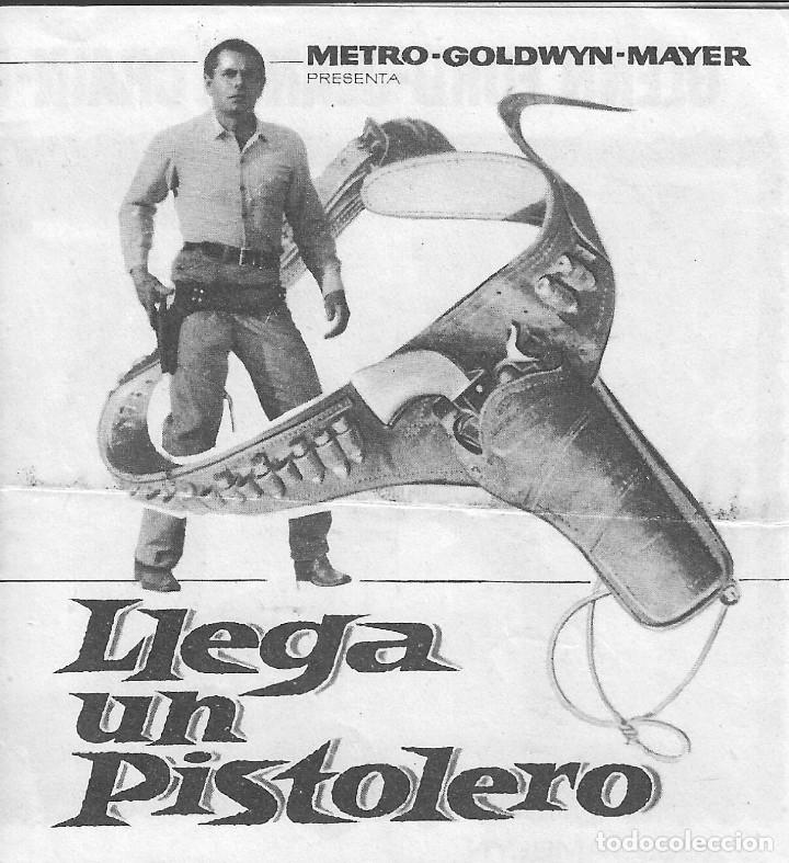 PROGRAMA DOBLE - LLEGA UN PISTOLERO - GLENN FORD, JEANNE CRAIN - MGM - GRAN ALBÉNIZ - 1962. (Cine - Folletos de Mano - Westerns)