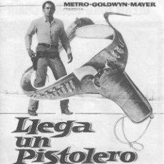 Cine: PROGRAMA DOBLE - LLEGA UN PISTOLERO - GLENN FORD, JEANNE CRAIN - MGM - GRAN ALBÉNIZ - 1962.. Lote 174465945