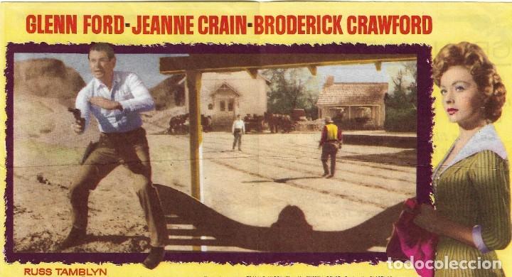 Cine: PROGRAMA DOBLE - LLEGA UN PISTOLERO - GLENN FORD, JEANNE CRAIN - MGM - GRAN ALBÉNIZ - 1962. - Foto 2 - 174465945