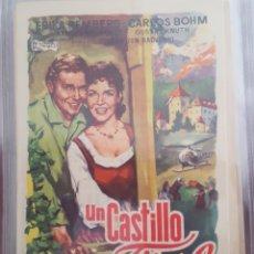 Cine: FOLLETO DE MANO / UN CASTILLO EN EL TIROL / 1957. Lote 174466683