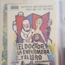 Cine: FOLLETO DE MANO / EL DOCTOR, LA ENFERMERA Y EL LORO / 1967. Lote 174481499