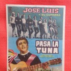 Cine: PASA LA TUNA, IMPECABLE SENCILLO, JOSE LUIS Y SU GUITARRA, CON PUBLI CERVANTES 1960. Lote 174490815