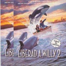 Cine: LIBERAD A WILLY 2. LOTE DE 2 FOLLETOS DE MANO. Lote 174557880