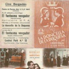 Cine: LA DONCELLA DE LA DUQUESA. Lote 174563573
