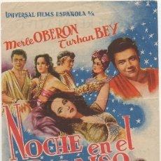 Cine: PROGRAMA DE CINE: NOCHE EN EL PARAISO. CON PUBLICIDAD AL DORSO PC-4490. Lote 174572687