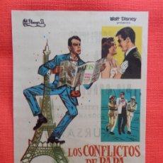 Cine: LOS CONFLICTOS DE PAPA, IMPECABLE SENCILLO, FRED MACMURRAY,WALT DISNEY, C/PUBLI KURSAAL. Lote 174606127