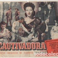 Foglietti di film di film antichi di cinema: PROGRAMA DE CINE: LA CAUTIVADORA. SIN PUBLICIDAD PC-4496. Lote 174879812