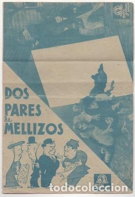Cine: PROGRAMA DE CINE: DOS PARES DE MELLIZOS. SIN PUBLICAD PC-4498 - Foto 3 - 174889493