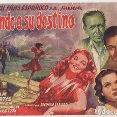 Folhetos de mão de filmes antigos de cinema: PROGRAMA DE CINE: HUYENDO A SU DESTINO PC-4508. Lote 174920039