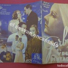 Cine: EL VELO PINTADO. GRETA GARBO. DOBLE. SIN PUBLICIDAD. Lote 175043317