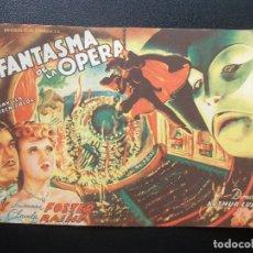Folhetos de mão de filmes antigos de cinema: EL FANTASMA DE LA ÓPERA, NELSON EDDY, SUSANNA FOSTER. Lote 175145545