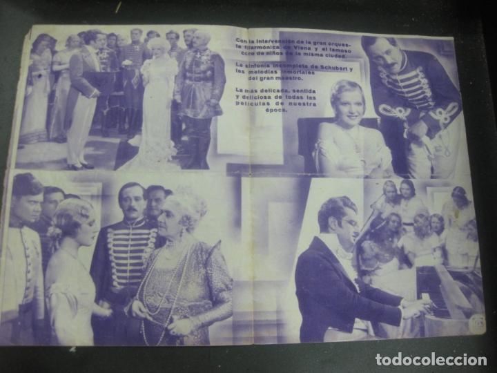 Cine: VUELAN MIS CANCIONES. MARTHA EGGERT. HANS JARAY. 1934. PROGRAMA DE CINE. FOLLETO DE MANO. - Foto 2 - 175199543