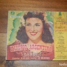 Cine: IMPERIO ARGENTINA -BAMBU-. Lote 175218659