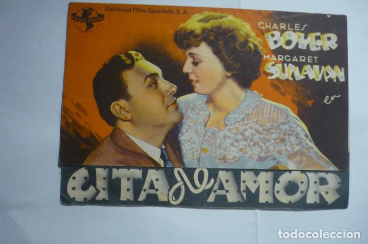 PROGRAMA DOBLE CITA DE AMOR - CHARLES BOYER .PUBLICIDAD SAVOY -ULLDECONA (Cine - Folletos de Mano - Comedia)
