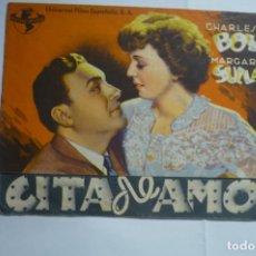 Cine: PROGRAMA DOBLE CITA DE AMOR - CHARLES BOYER .PUBLICIDAD SAVOY -ULLDECONA. Lote 175286880