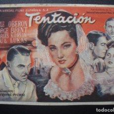 Cine: TENTACIÓN, MERLE OBERON. Lote 175336245
