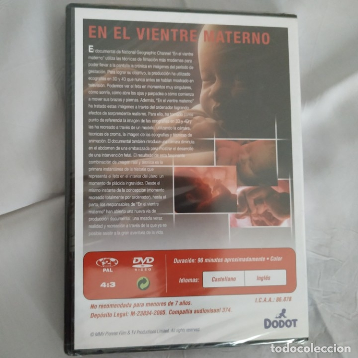 Cine: En el vientre materno. Documental. Dvd. 2005. NUEVO - Foto 2 - 175448633