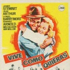 Cine: VIVE COMO QUIERAS. Lote 175549737