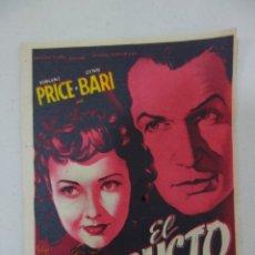 Cine: PROSPECTO DE CINE 1946. Lote 175587067