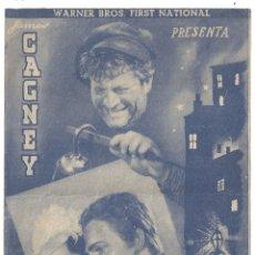 Cine: PTCC 044 LA CIUDAD SINIESTRA PROGRAMA DOBLE AZUL WARNER JAMES CAGNEY MARGARET LINDSAY. Lote 175606944