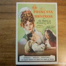 Cine: LA PRINCESA DE LOS URSINOS. -NACIONAL CINEMA-. Lote 175614633