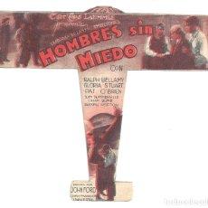 Cine: PTEB 064 HOMBRES SIN MIEDO PROGRAMA TROQUELADO UNIVERSAL RALPH BELLAMY GLORIA STUART PAT O'BRIEN. Lote 175618730