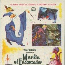 Cine: MERLÍN EL ENCANTADOR (CON PUBLICIDAD). Lote 175633453