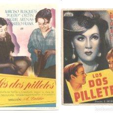 Cine: PTEB 066 LOS DOS PILLETES 2 PROGRAMAS SENCILLOS ARAJOL NARCISO BUSQUETS. Lote 175654757