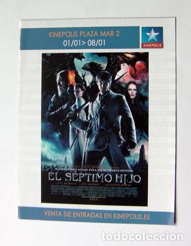 ALICANTE PROGRAMA CINE KINEPOLIS PLAZA MAR 2 PELICULA EL SEPTIMO HIJO 2015 (Cine - Folletos de Mano - Aventura)