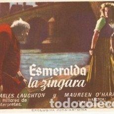 Cine: PROGRAMA CINE. ESMERALDA LA ZINGARA. REF. 19-999. Lote 175710363