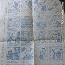 Cine: GRACIA Y JUSTICIA PROGRAMA AUCA CON PUBLICIDAD PRINCIPAL SANTIAGO DE COMPOSTELA 31 X 22 CMTS. Lote 175789945