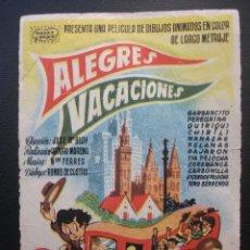 Cine: ALEGRES VACACIONES. Lote 175920419