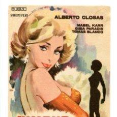 Cine: MUERE UNA MUJER, CON ALBERTO CLOSAS.. Lote 175928103
