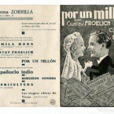 Cine: POR UN MILLÓN, CON GUSTAV FROELICH.. Lote 175980924