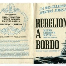 Cine: REBELIÓN A BORDO, CON MARLON BRANDO.. Lote 175981345