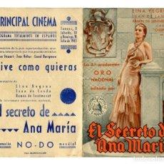 Cine: EL SECRETO DE ANA MARÍA, CON LINA YEGROS.. Lote 175989488