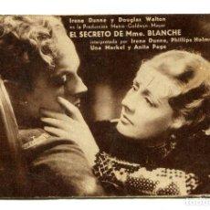 Cine: EL SECRETO DE MADAME BLANCHE, CON IRENE DUNNE.. Lote 175990018